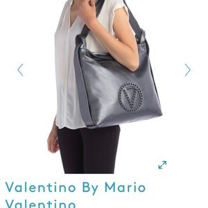 Valentino gray/silver on shoulder or as backpack